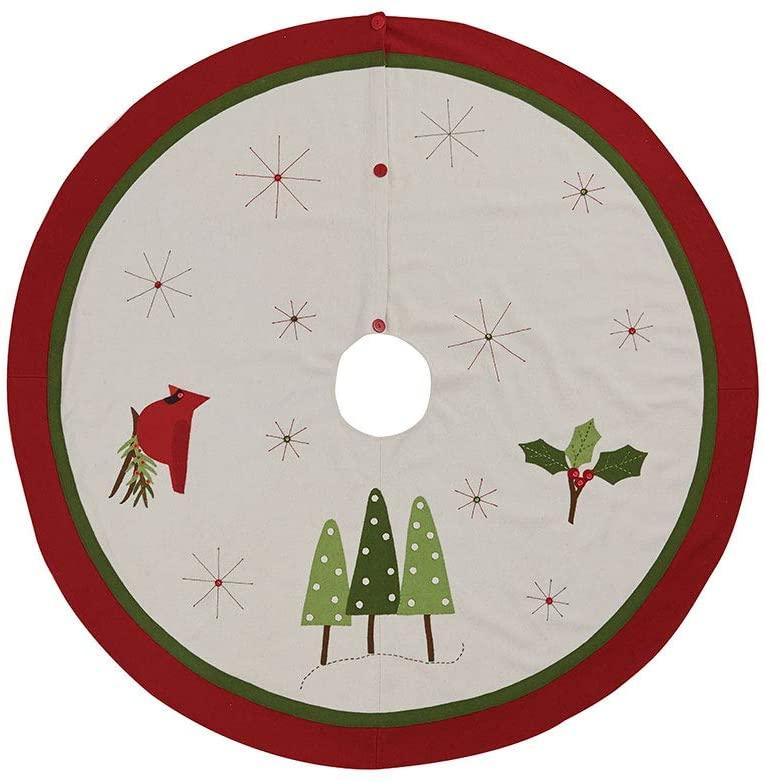 Park Designs Christmas Greenery Felt Tree Skirt