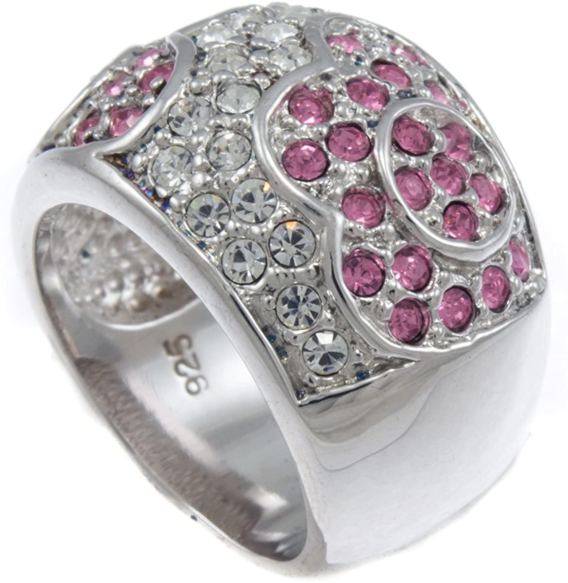 GIFTS INFINITY Pink Panther Swarovski Ladies Cocktail Ring RL106