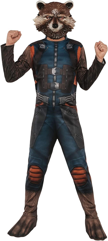 Rubies Marvel Avengers: Endgame Childs Rocket Raccoon Costume & Mask, Medium