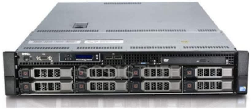 Dell PowerEdge R510 8 Bays 3.5 Server - 2X Intel Xeon E5640 2.66GHz 4 Core - 96GB DDR3 REG Memory - Dell H700 512MB Raid Controller - 24TB (8X 3TB SAS New HDD) - 2X 750w PSU - Rails (Renewed)