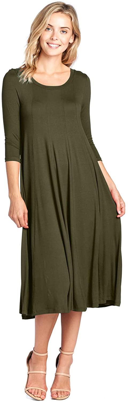 Modern Kiwi Long Sleeve Flowy Maxi Dress (S-4X)