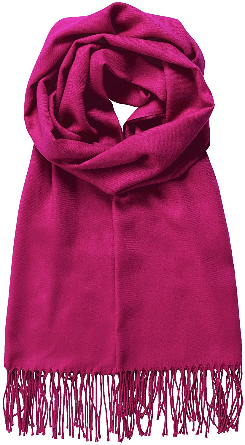 Made by Johnny Unisex Large Lightweight Soft Silky Real Cashmere Shawl Wrap Scarf