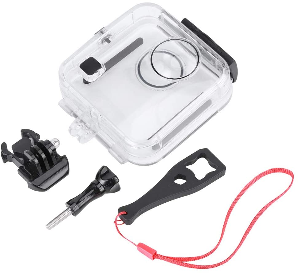 Action Camera Waterproof Case Sports Camera Diving Shell 360 Degrees 45M Diving Protection Shell for Gopro Fusion