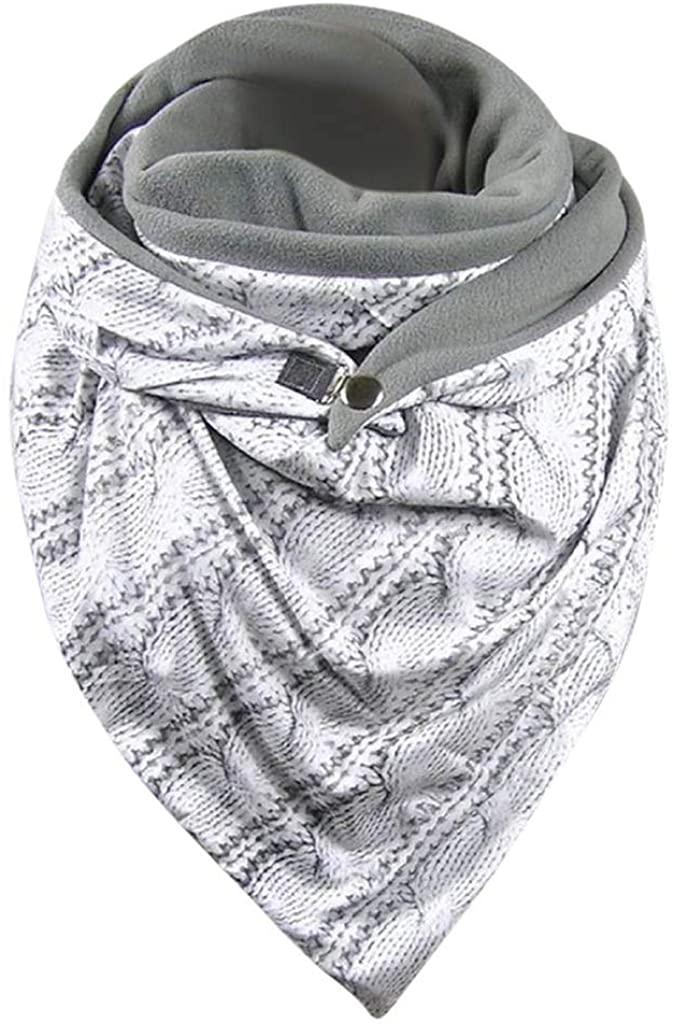 Elegant Retro Multicolor Scarf Fashion Women Printing Button Soft Cozy Classic Wrap Casual Scarves Oversized Shawls