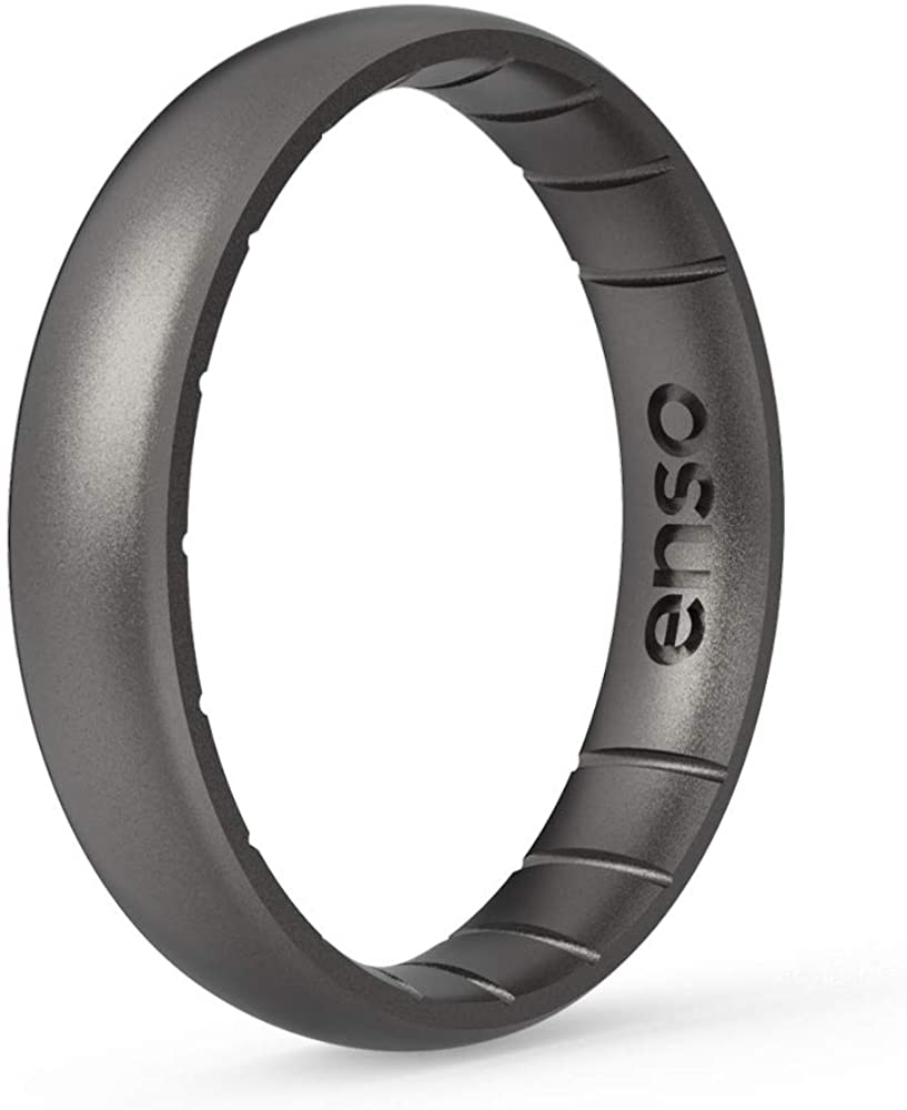 Enso Rings Thin Elements Silicone Ring | Made in The USA | Comfortable, Breathable, and Safe