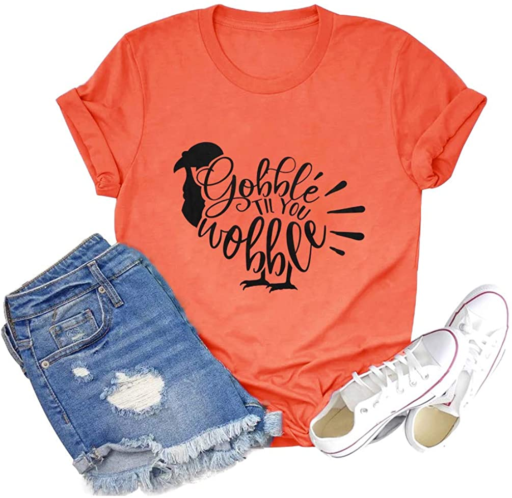 Women Thanksgiving Turkey Shirt Leftovers are for Quitters Tees Funny Vacation Short Sleeve Fall Top Blouse