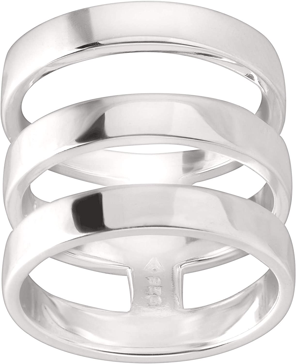 Silpada 'Contemporary Art' Triple-Bar Ring in Sterling Silver