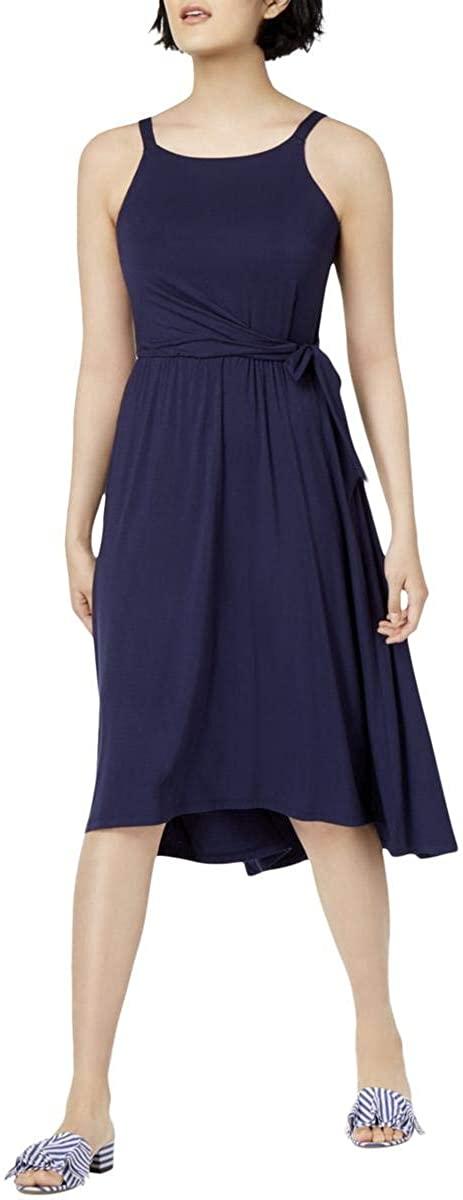 Maison Jules Womens Sleeveless High-Low Casual Dress