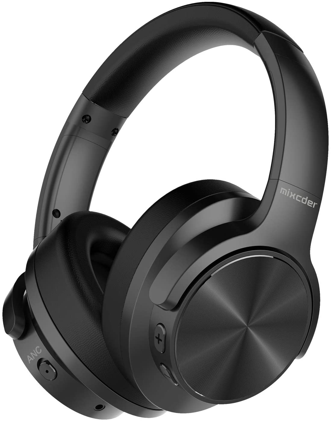 Mixcder E9 Active Noise Cancelling Headphones Wireless Bluetooth 5.0, 2020 Upgraded Foldable over Ear Headset with Quick Charge, 35H Playtime - Black