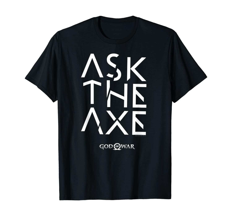 God of War Ask The Axe T-shirt