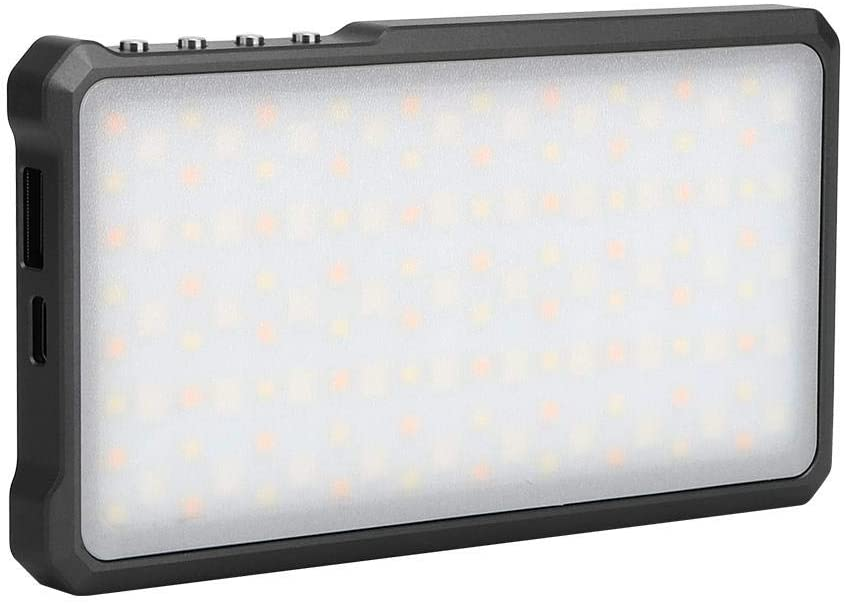 Video Light Panel, Portable RGB Full Colour LED Fill Light Stepless Dimmable 3000-6500K Dual Color Temperature On-camera Studio Photography Lamp,CRI 95+, Ra≥96 for Portrait, Wedding, Recording(Black)