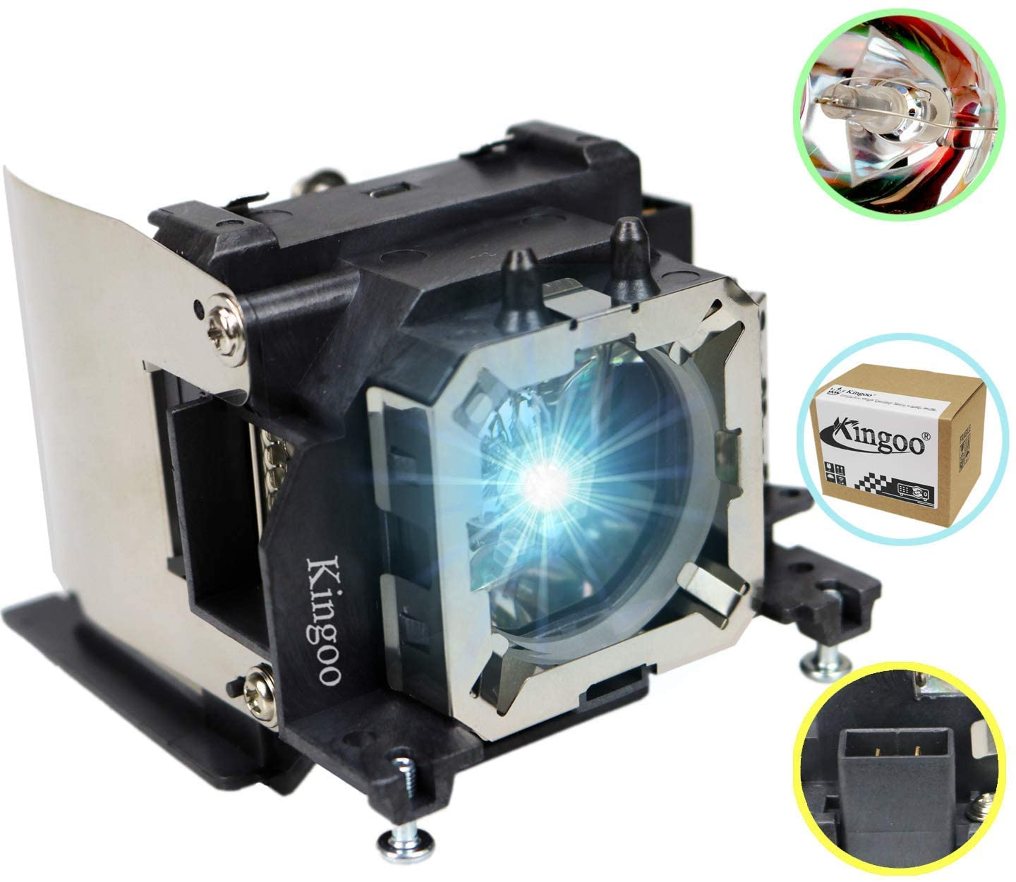 Kingoo Excellent Projector Lamp for PANASONIC PT-VX420 ET-LAV300 Replacement Projector Lamp Bulb with Housing