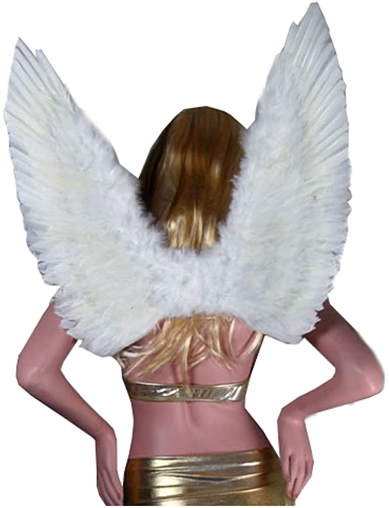 SACAS Large White Feather Angel Wings for Women Men and Teen Adults