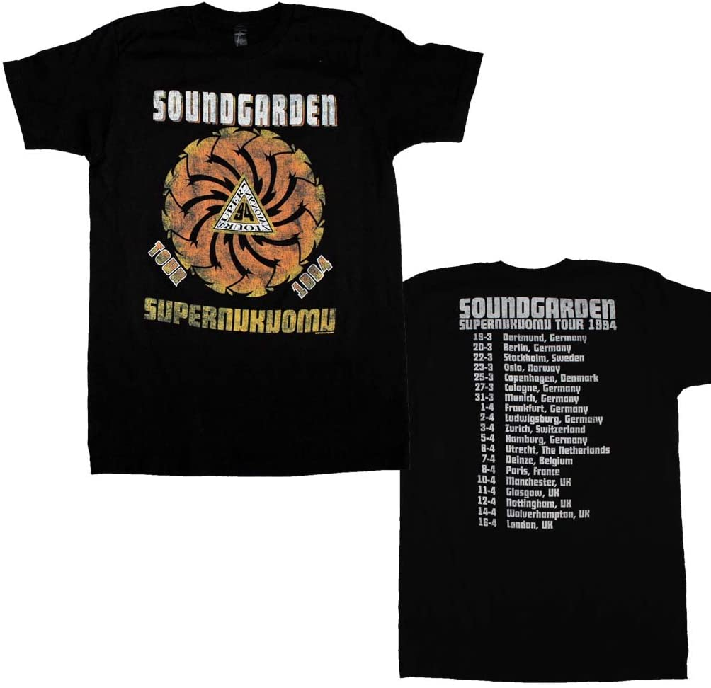 Rockline Soundgarden Superunkown Tour 94 Soft T-Shirt Large Black