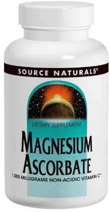 SOURCE NATURALS Magnesium Ascorbate 1000 Mg Tablet, 60 Count