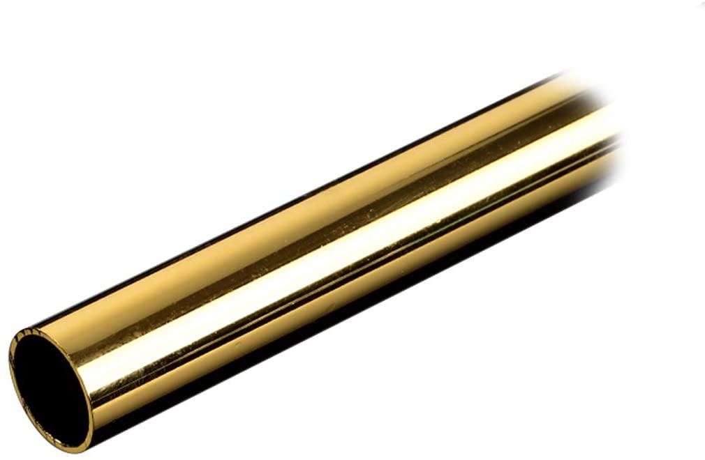Bitspower None Chamfer Brass Hard Tubing OD14MM Golden-500MM Length