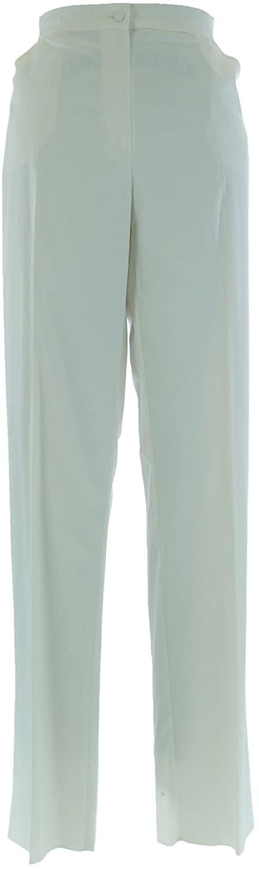 Marina Rinaldi by MaxMara Ex-Hetka Off White Unhemmed Dress Pants