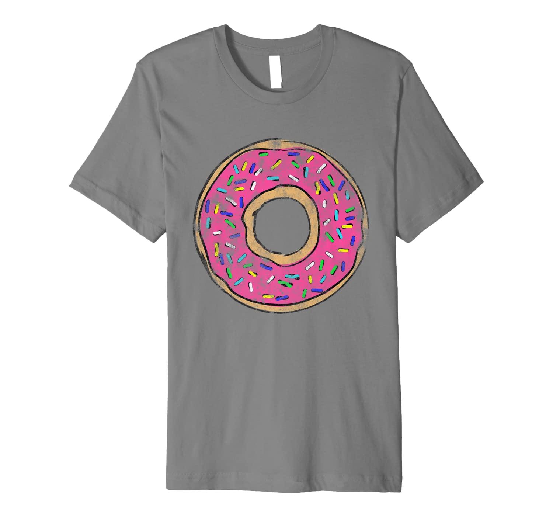 Vintage Big Pink Donut Shirt Sprinkles Doughnut