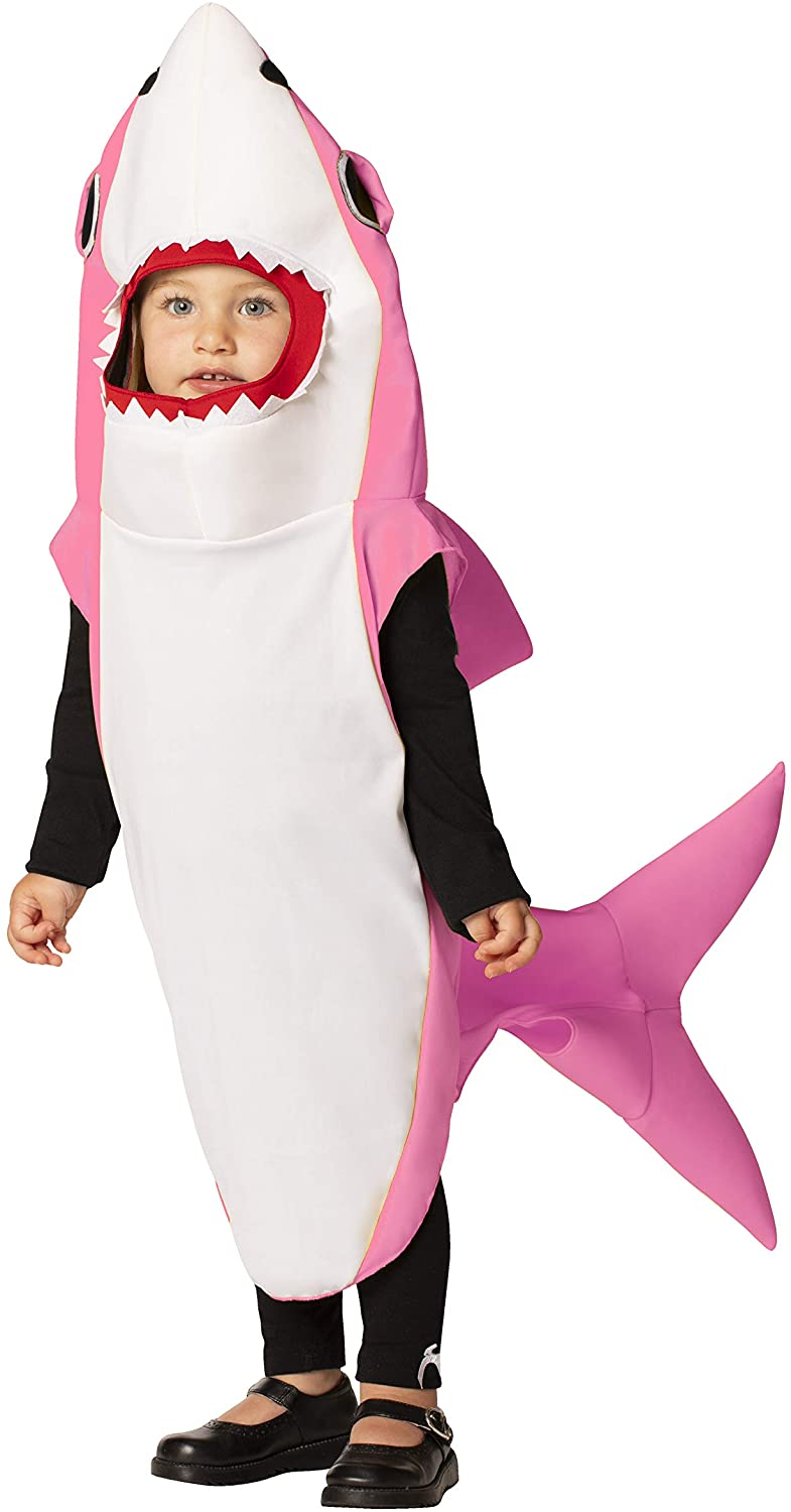 Rasta Imposta Pink Shark Outfit Family Group Costume Child Size 3-4