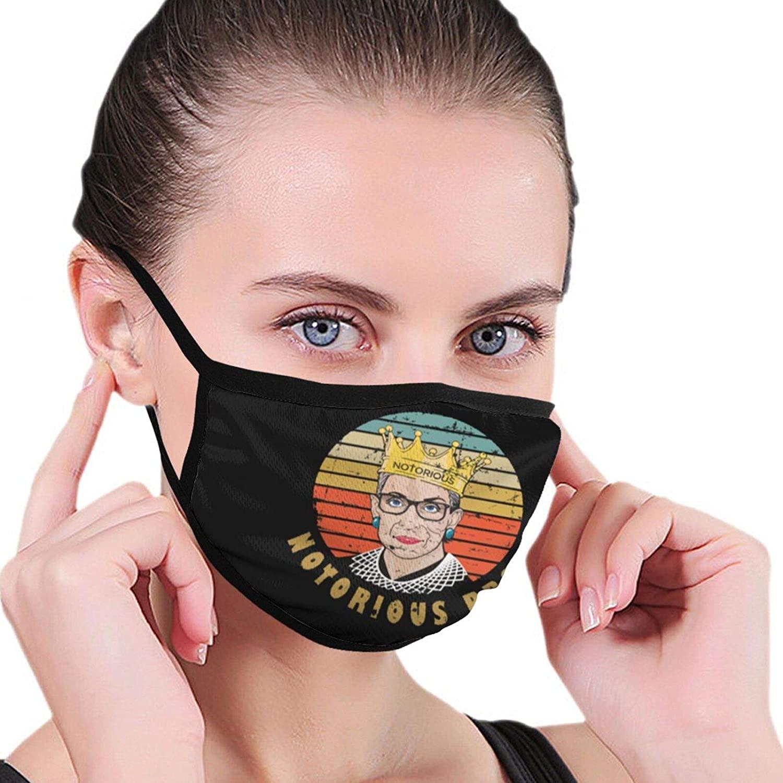 Rip Ruth Bader Ginsburg Notorious RBG Bandanas Face Mask Headwear Balaclava Face Cover Neck Gaiter for Outdoors, Sports