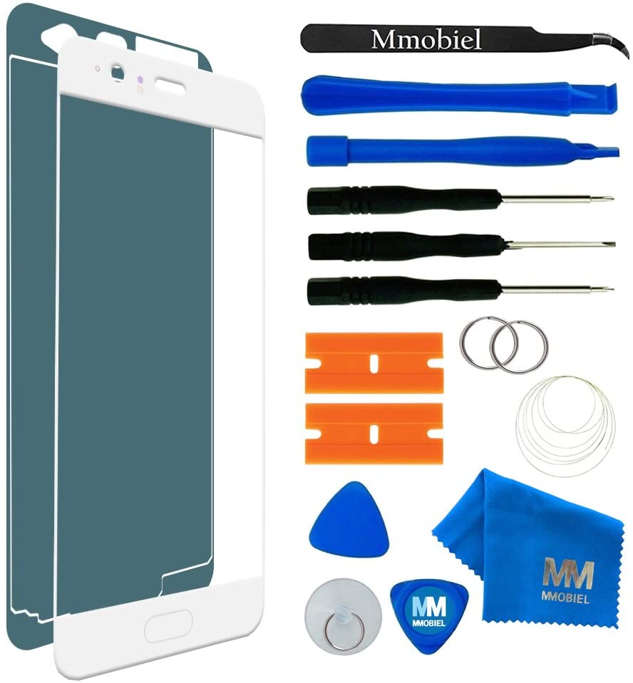 MMOBIEL Front Glass Repair kit Replacement Compatible with Huawei P10 VTRL09 VTRL29 (White) 5.1 Inch Display