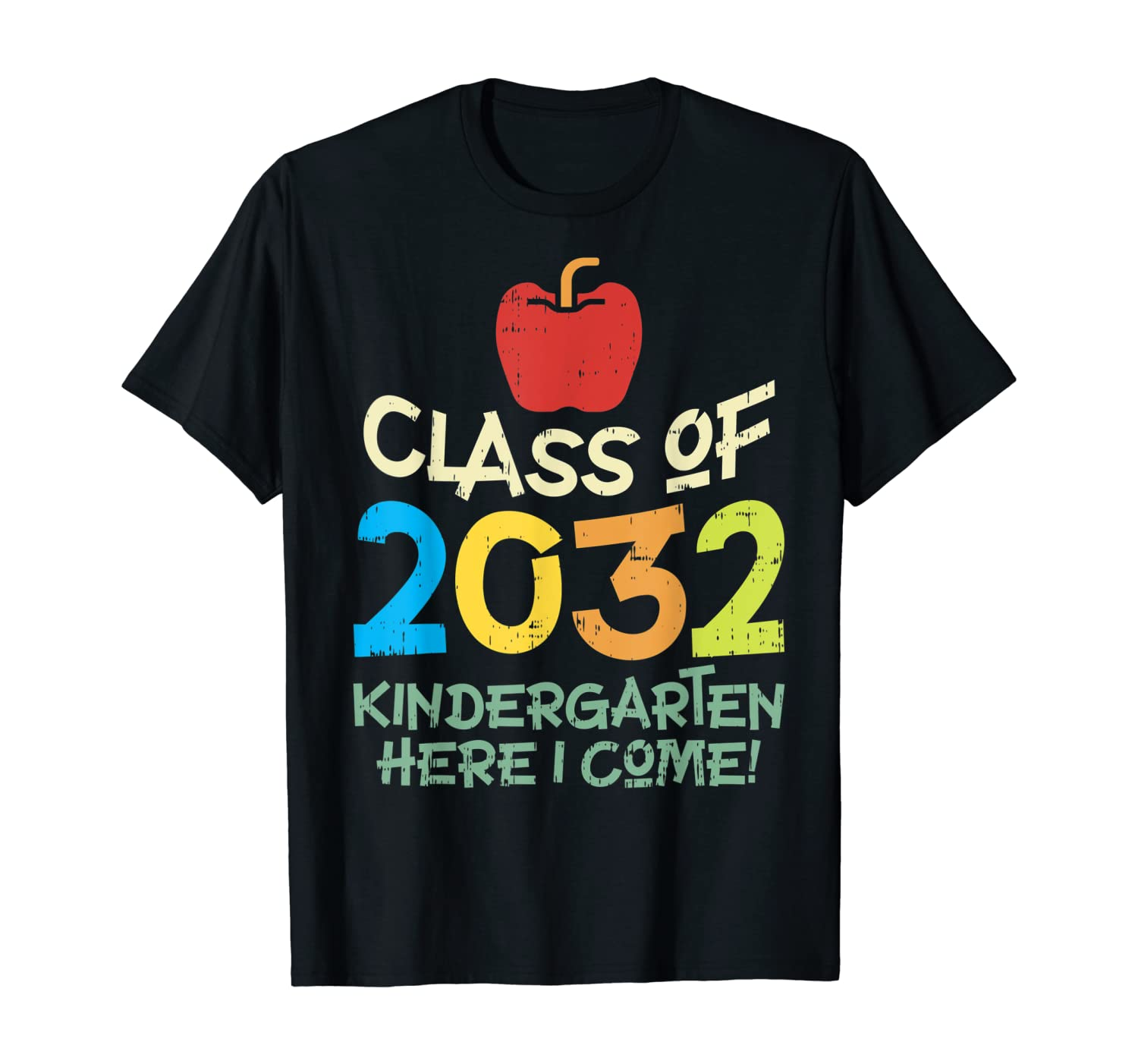 Class Of 2032 Apple Grow With Me Kindergarten First Day Gift T-Shirt