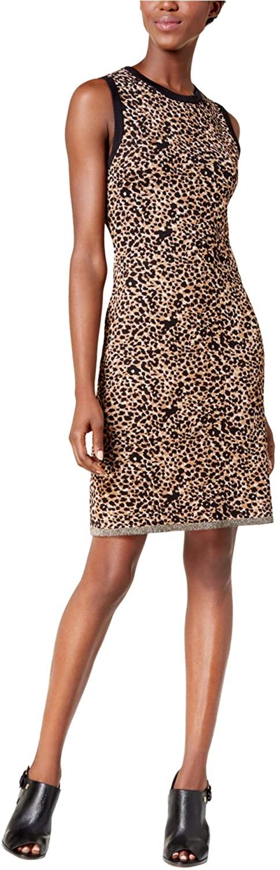 Tommy Hilfiger Womens Leopard Bodycon Dress