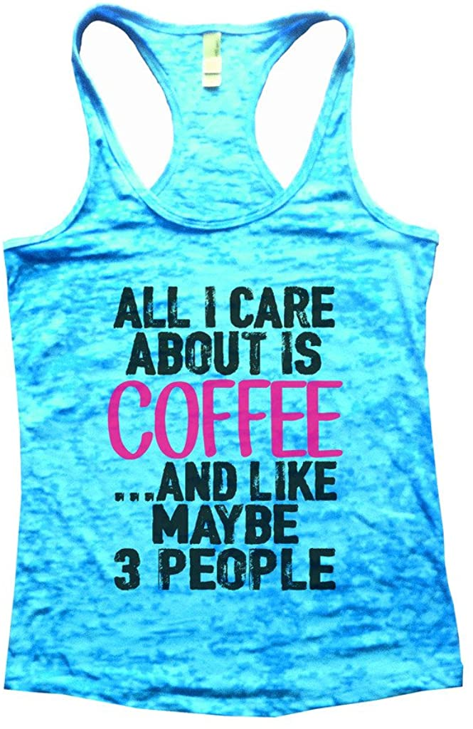Funny Threadz Funny Coffee Workout Fitness Womens Burnout Tank Top Shirt