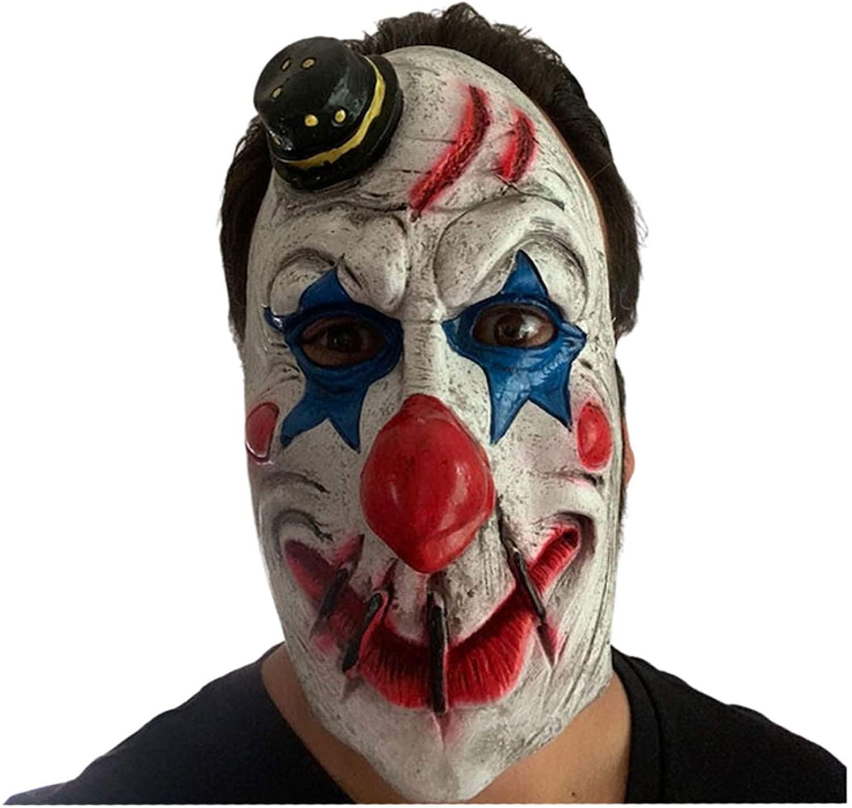 Scary Clown Masks Creepy Evil Halloween Costumes | Adult Teen Cosplay Mask | Killer Clown | Joker Pyscho Clowns | Realistic Demon Jigsaw Horror Zombie Latex Costume