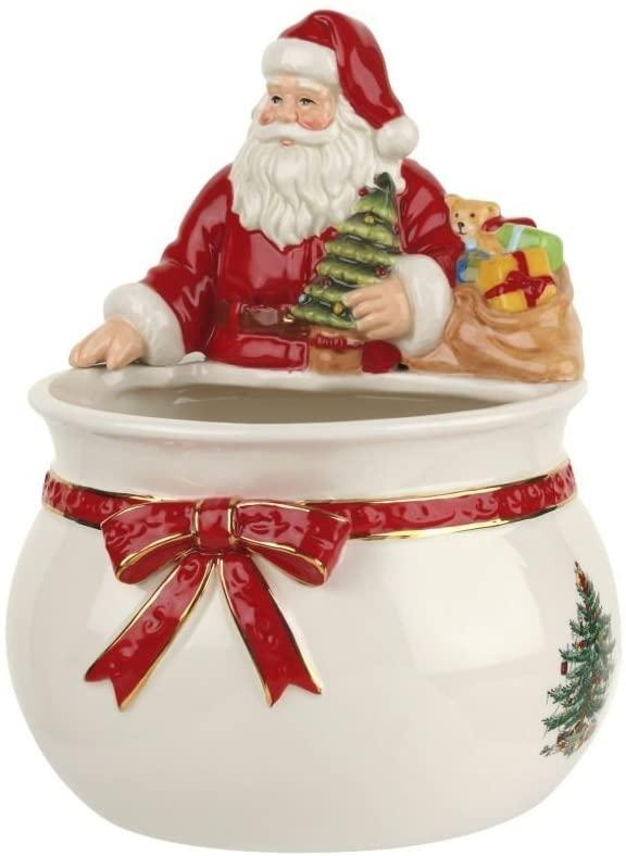 Spode Christmas Tree Santa Candy Bowl