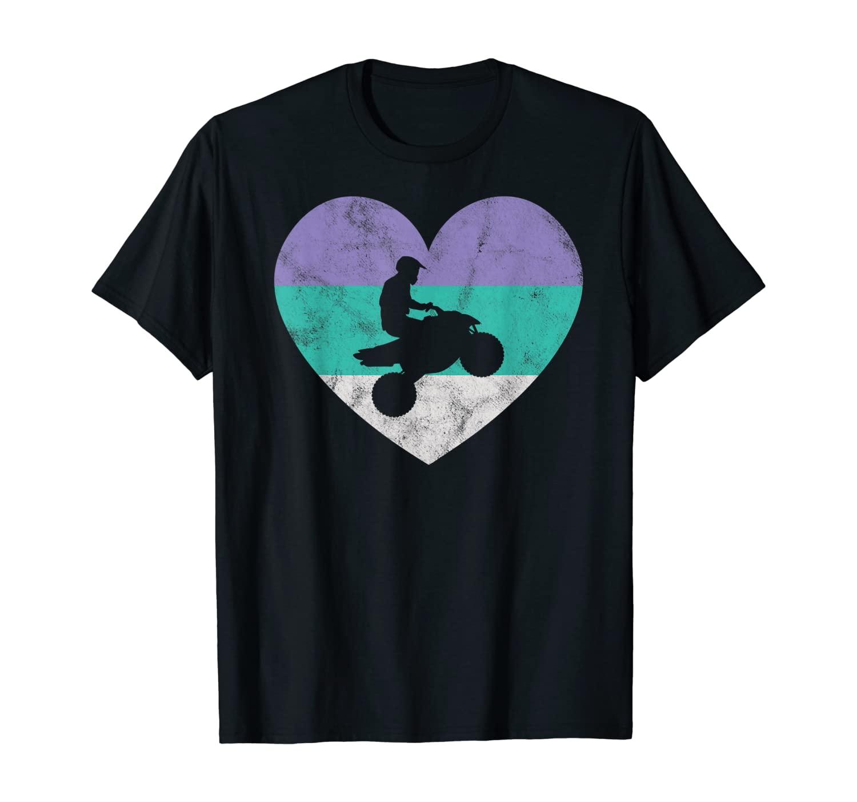 Quad Bike ATV 4 Wheeler Gift For Women & Girls Retro Cute T-Shirt