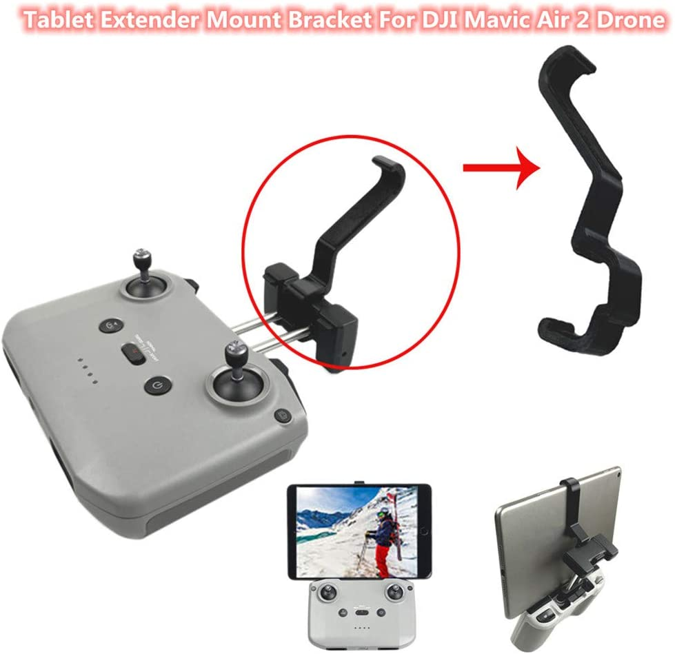 Novania Tablet & Phone Mount Holder Compatible with DJI Mavic Air 2 Drone, Adjustable Foldable Aluminum Remote Controller Stabilizing Extended Stand Bracket Clip, Support 4-13 Inch