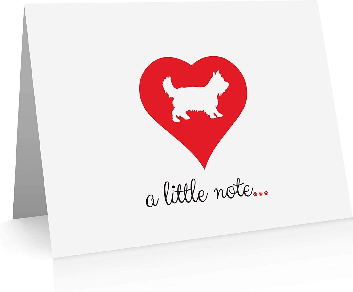 Yorkie Note Cards (24 Fold-over Cards and Envelopes) Terrier Dog Breed Notecards