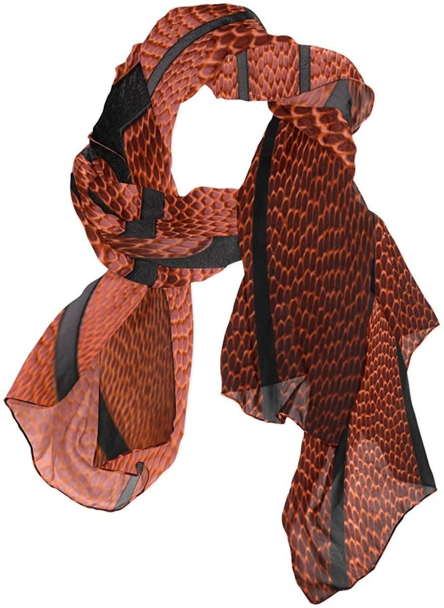 Use4 Fashion Lightweight Ball Basketball Texture Chiffon Silk Long Scarf Shawl Wrap