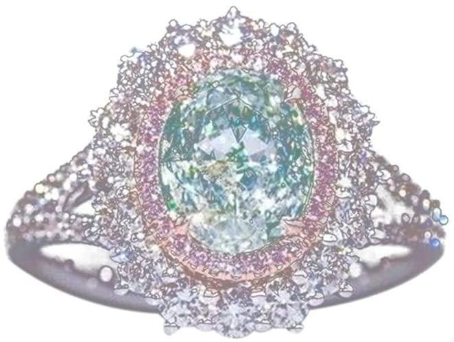 Eleusine Shiny Sterling Silver Rings for Women Green Topaz Ring Size 10