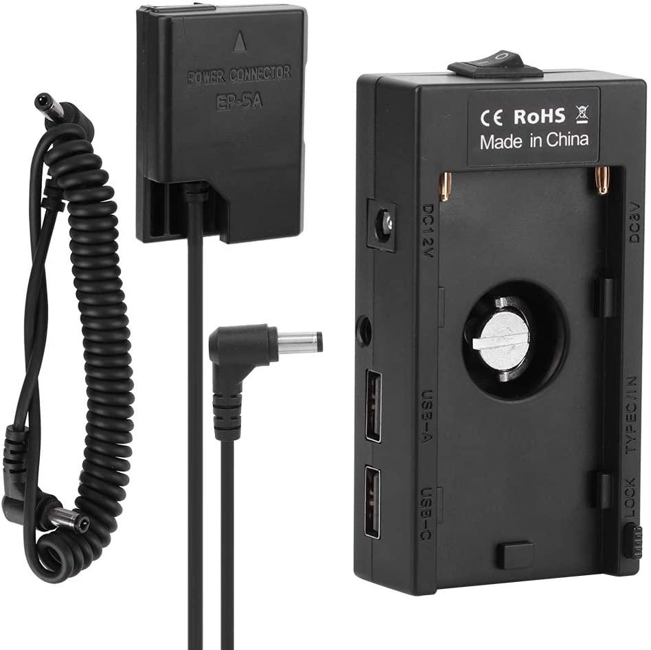 Dummy Battery, DC USB Port Full Decode Fake Battery F01A‑F970 Battery Board to EN‑EL14 Board Adapter for Nikon D3400 D5200