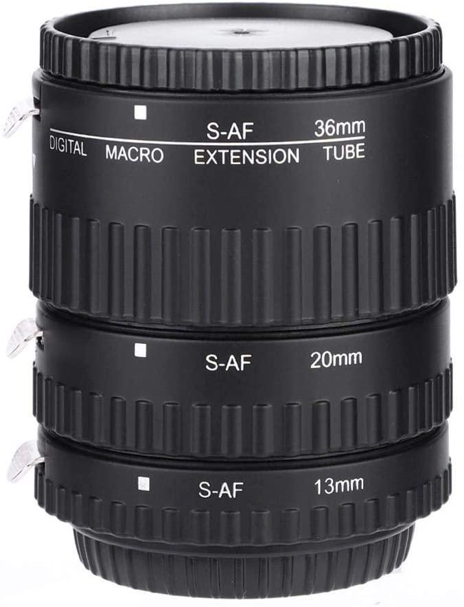 V BESTLIFE Vbestlife Camera Lens Adapter Auto Focusing Ring, Macro Extension for Sony Camara, Tube 12mm+20mm+36mm for Sony Alpha DSLR. (MK-S-AF1-B)