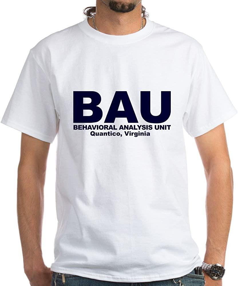 CafePress BAU Criminal Minds 100% Cotton T-Shirt, White