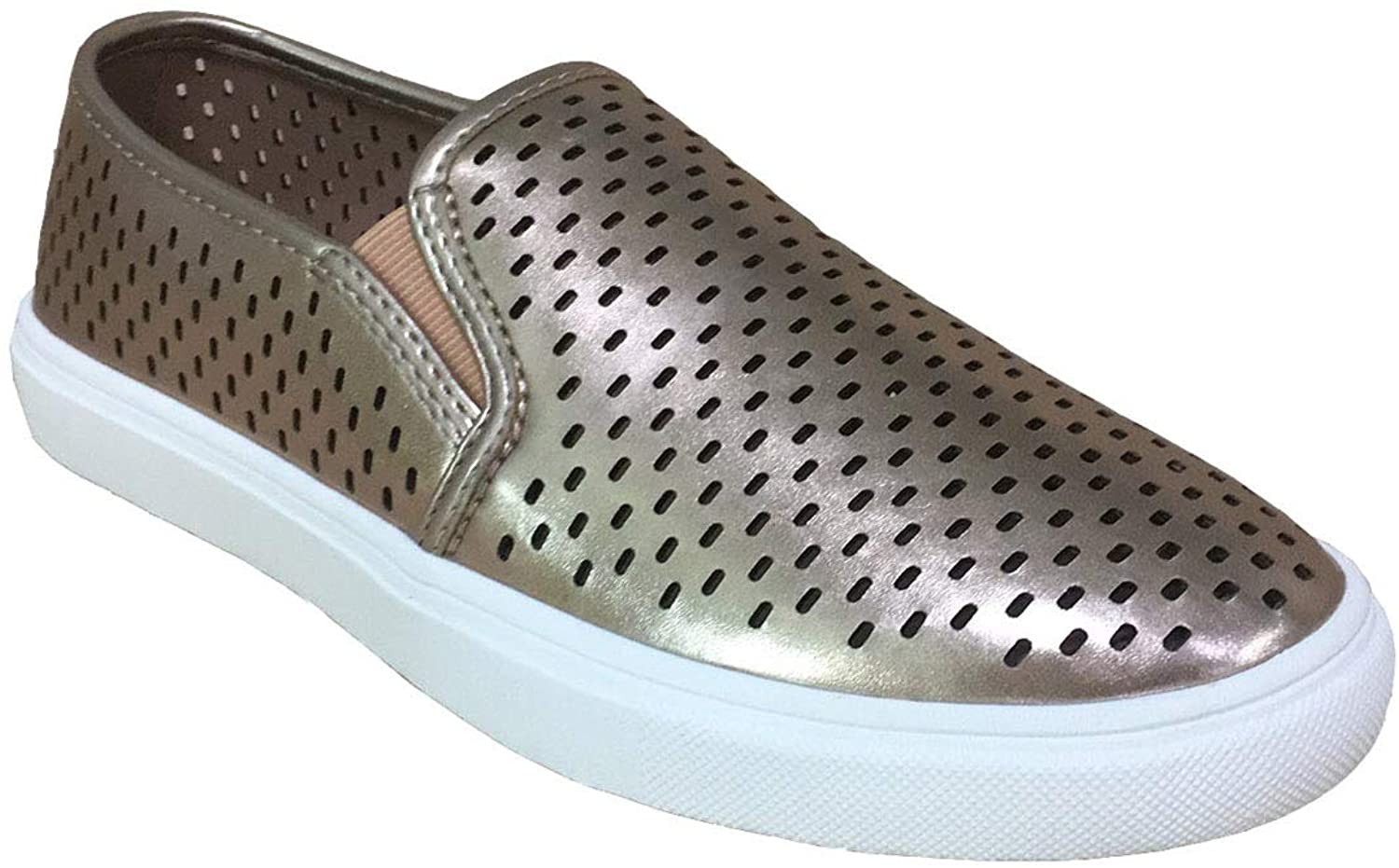 Time & Tru Women's Perforated Comfort Casual Slip On Shoes