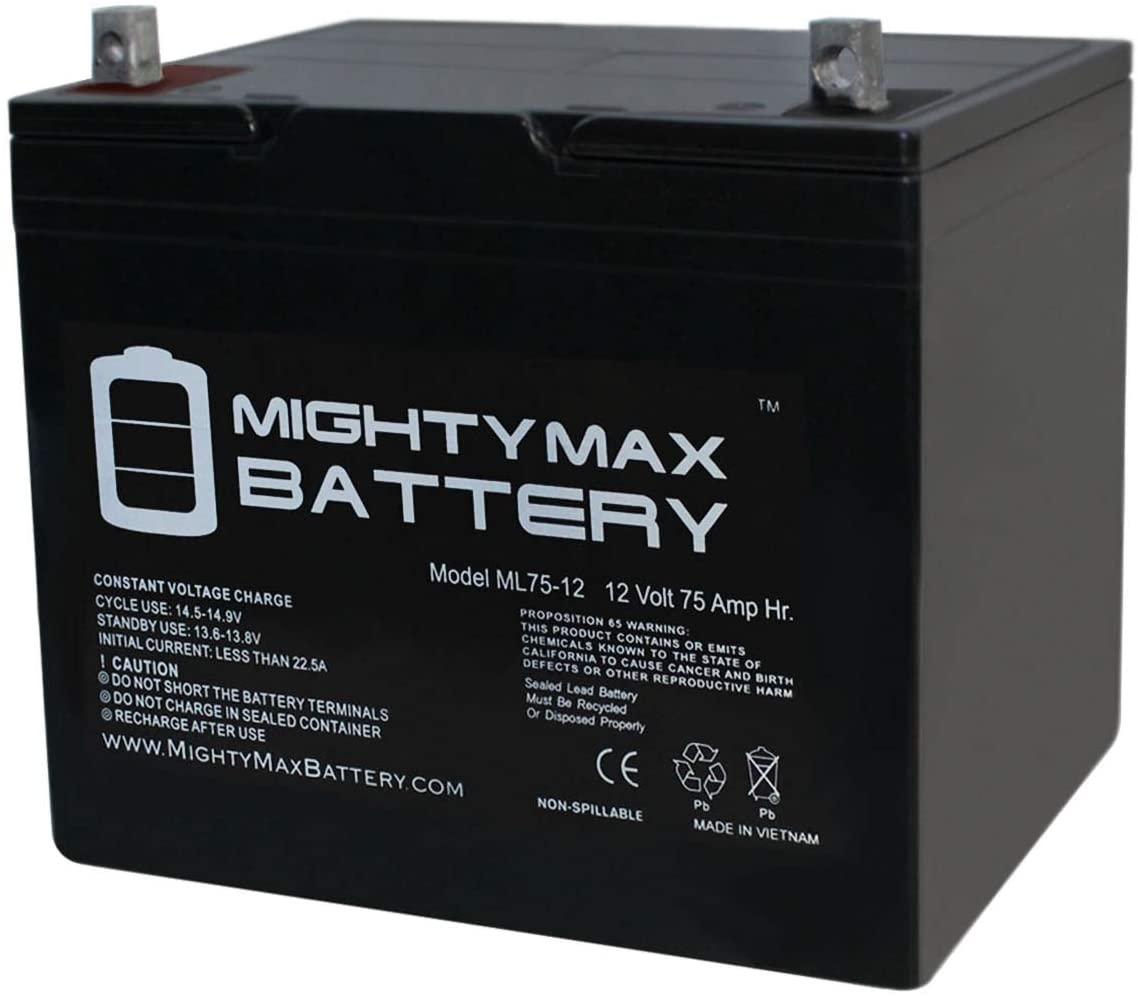 ML75-12 - 12V 75AH SLA Battery - Mighty Max Battery Brand Product