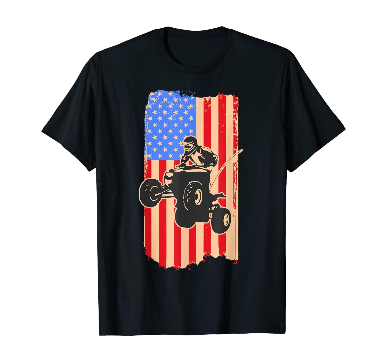 USA Flag ATV - All Terrain Vehicle Drivers Gift T-Shirt