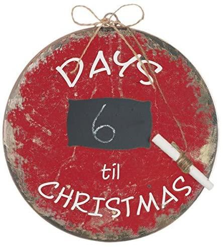 Days Til Christmas Ornament, Red