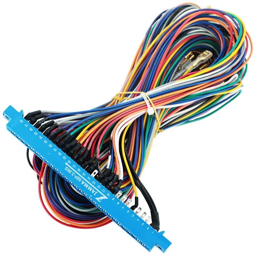 DEVMO 28 Pins Jamma Harness Cabinet Wire Wiring Loom for Arcade Game PCB Video Board Machine Video Consoles Jamma Pandora Box 4 5 6