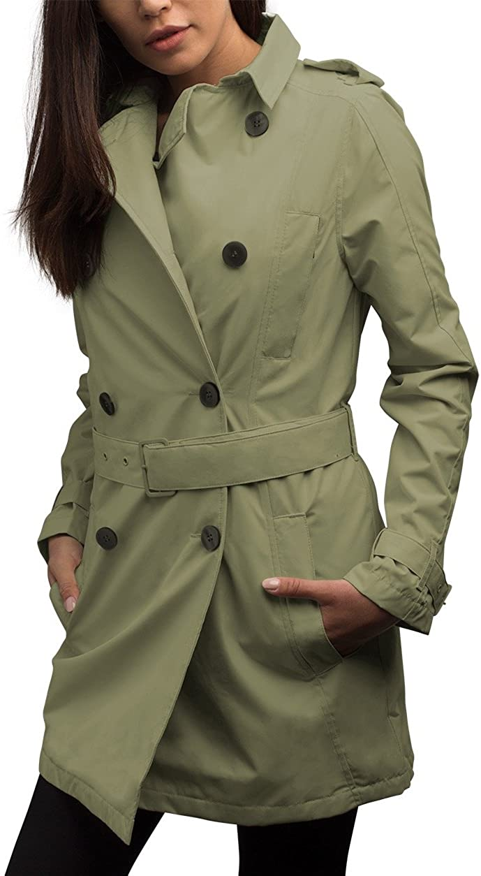 SCOTTeVEST Women's Trench Coat - Travel Clothing, Trench & Rain Coats for Women