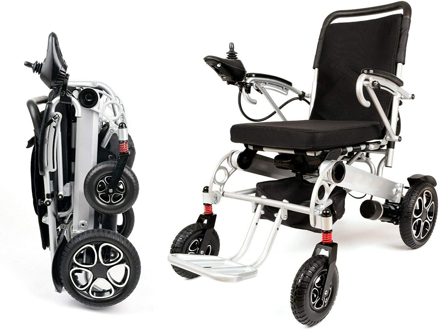 Patriot Folding Electric Powered Wheelchair, Supports up to 330 lbs, Approved for Airplane Travel, Safe and Easy Ride! Lightweight, Motorized