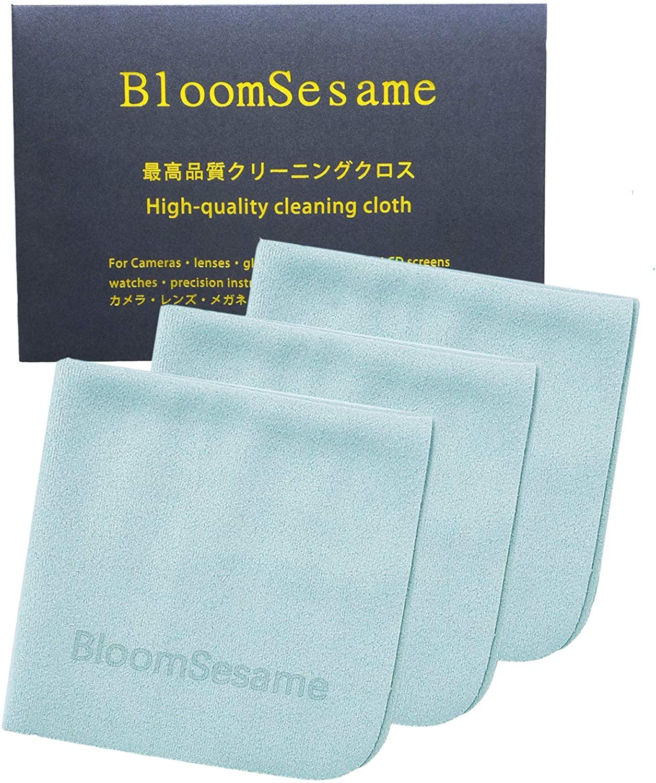 BloomSesame Microfiber Anti Fog Eyeglasses Cloth (6 Inch x 6 Inch, Blue 3pack)