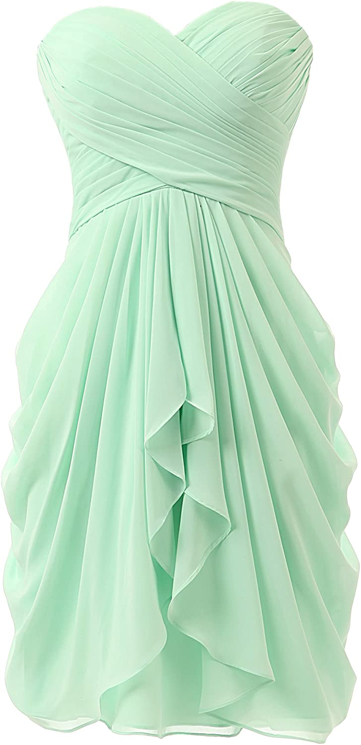 KissBridal Women's A-line Chiffon Bridesmaid Dress Homecoming Dance Gown KB219