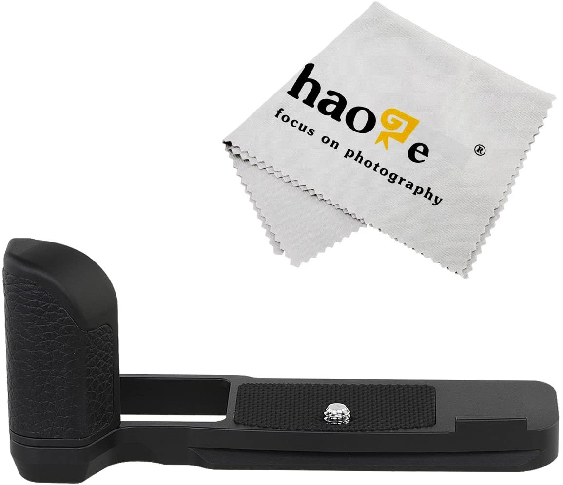 Haoge HG-PENF QR Quick Release Plate Camera Bracket Holder Hand Grip for Olympus Pen-F Pen F PENF fit Arca Swiss Sunwayfoto Kirk RRS Benro Replace ECG-4