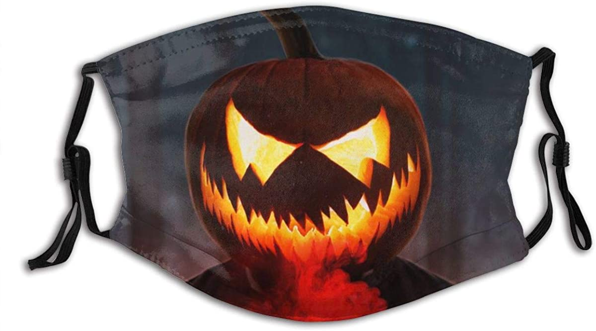 Halloween Glowing Face Mask Fashion Dustproof Breathable Reusable Scarf Adjustable Washable Protective Bandana