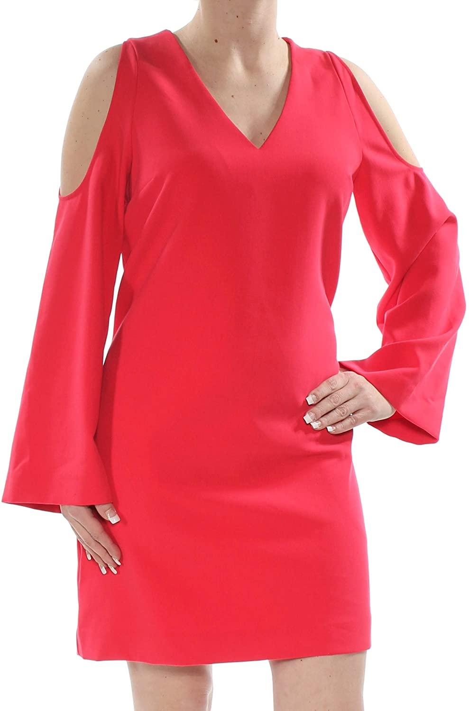 Rachel Roy Womens Cold-Shoulder Tunic Dress